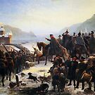 Blücher Crossing the Rhine, by Camphausen by edsimoneit