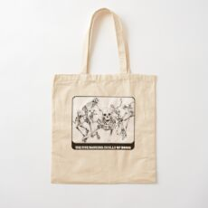 Beware The Five Dancing Skulls Of Doom! Cotton Tote Bag