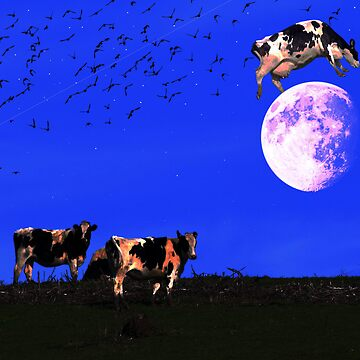 The Cow Jumped Over The Moon by wingtong168