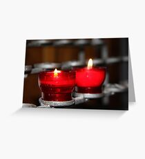 Candles in red holders Greeting Card