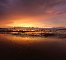 Sunset after the storm by Melinda Gaal