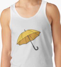 Gelber Regenschirm Tank Top