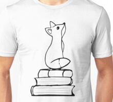 Fox on Books - With pages Unisex T-Shirt
