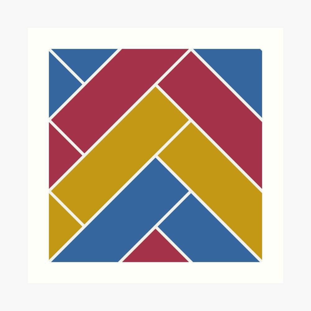 Geometric Pattern: Herringbone: Summer Art Print