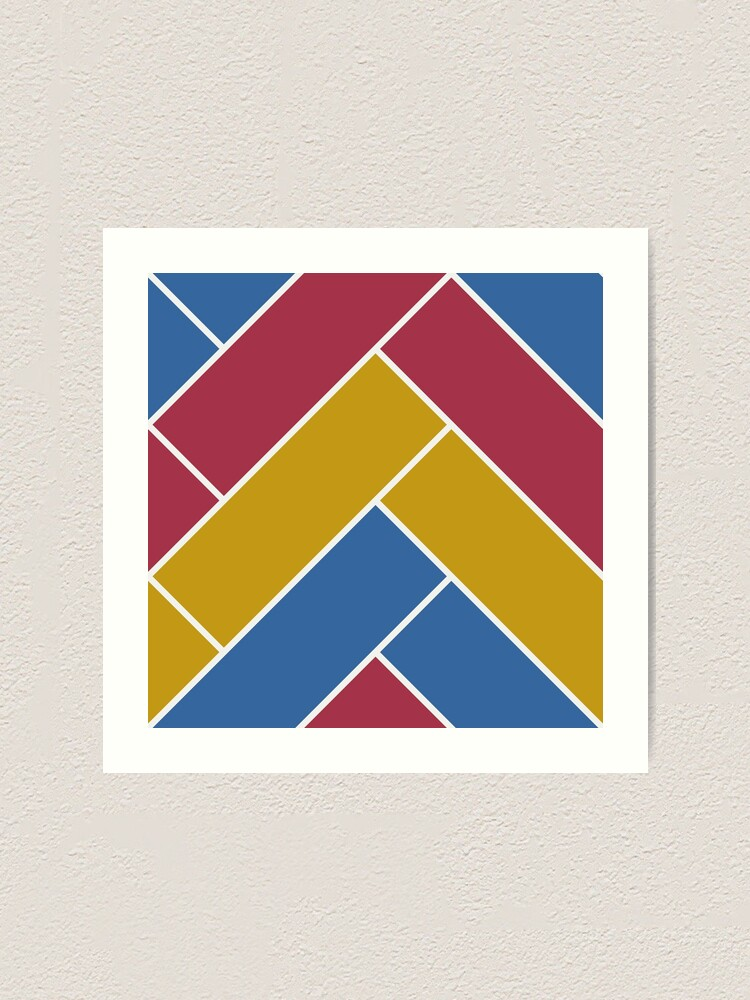 Alternate view of Geometric Pattern: Herringbone: Summer Art Print