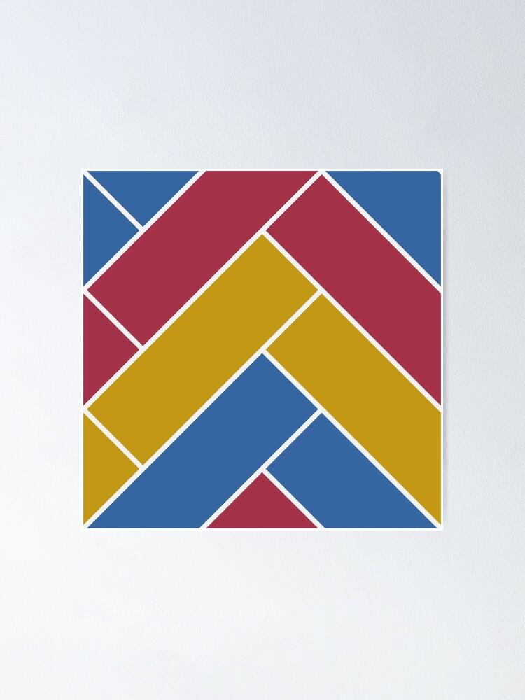 Alternate view of Geometric Pattern: Herringbone: Summer Poster