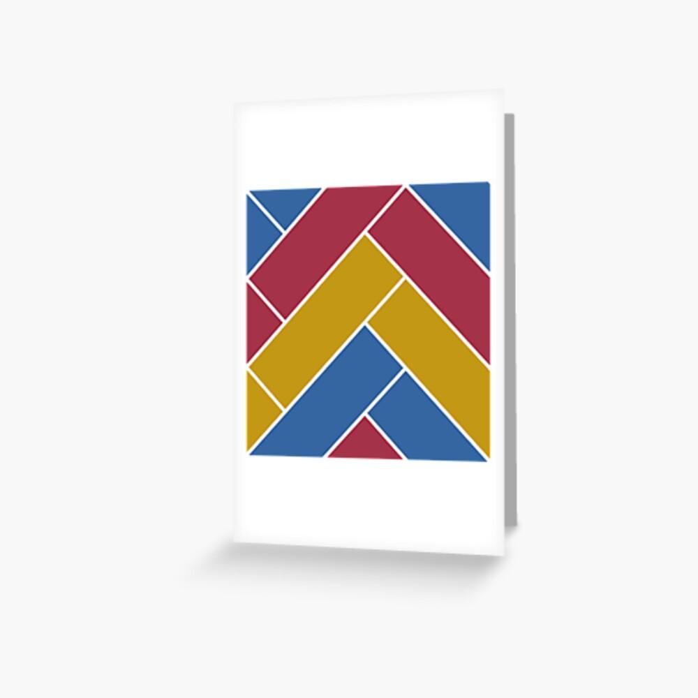 Geometric Pattern: Herringbone: Summer Greeting Card