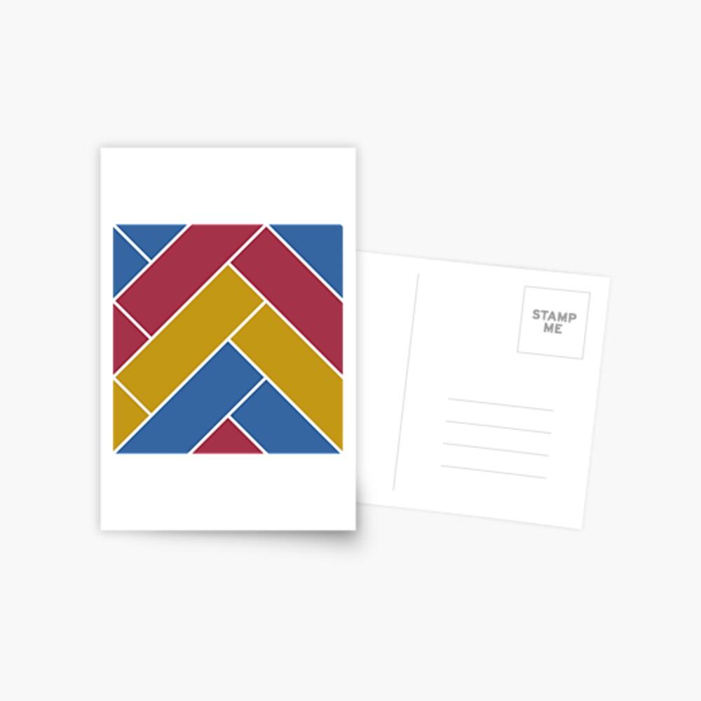 Geometric Pattern: Herringbone: Summer Postcard
