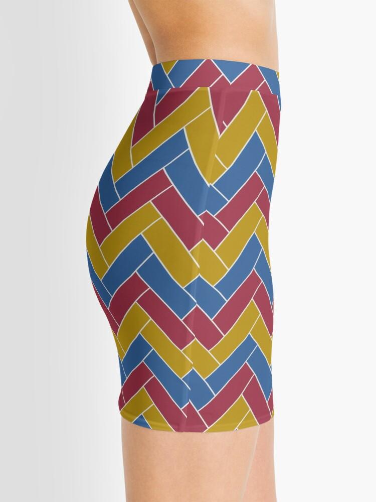 Alternate view of Geometric Pattern: Herringbone: Summer Mini Skirt