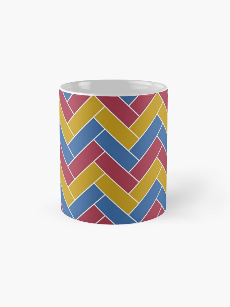 Alternate view of Geometric Pattern: Herringbone: Summer Mug