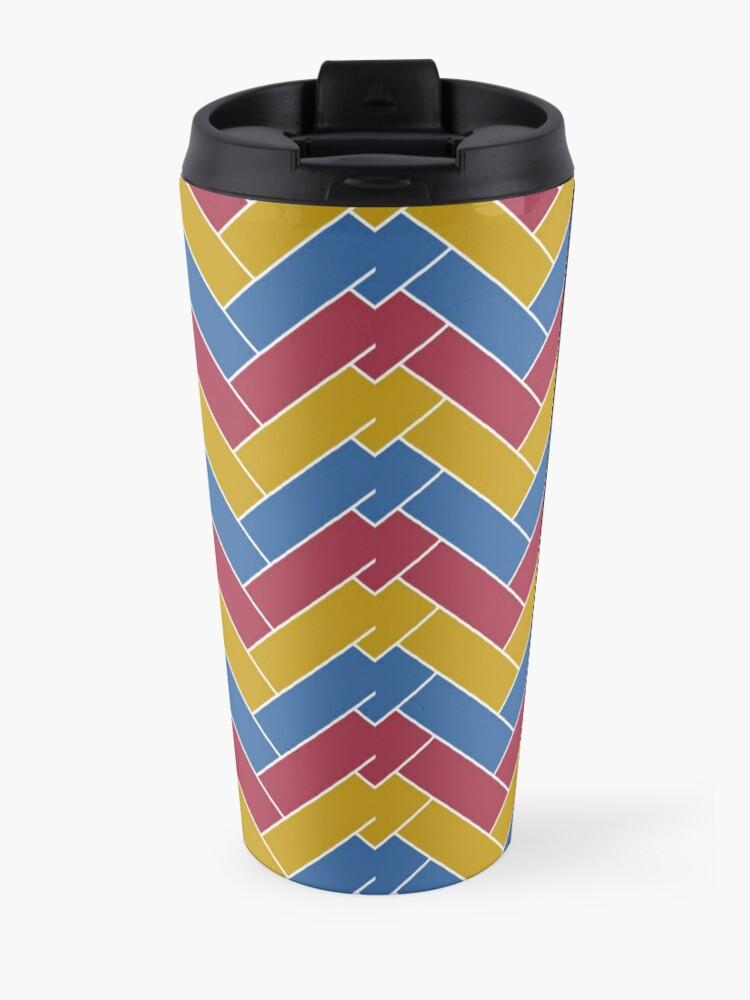 Alternate view of Geometric Pattern: Herringbone: Summer Travel Mug