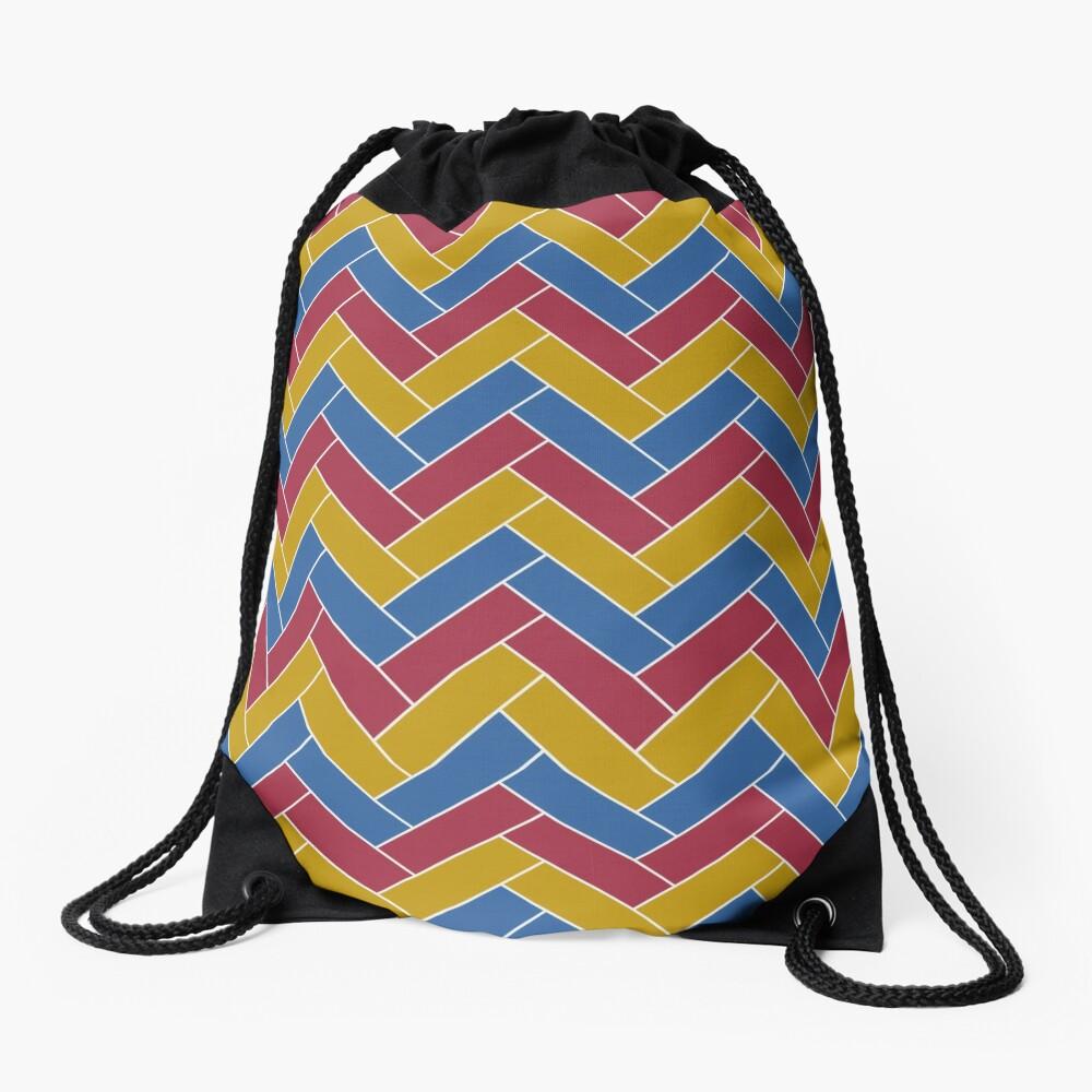 Geometric Pattern: Herringbone: Summer Drawstring Bag