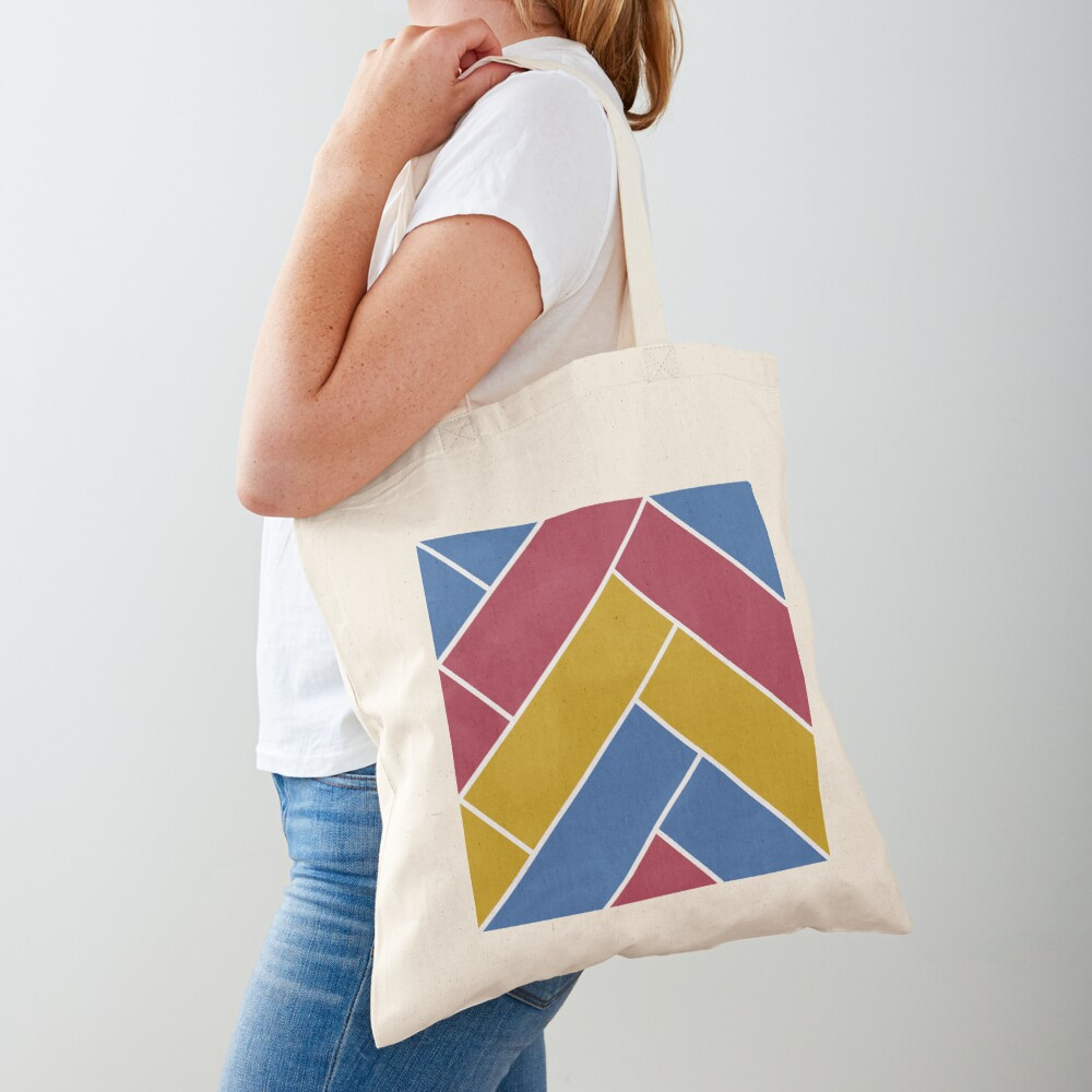 Geometric Pattern: Herringbone: Summer Tote Bag