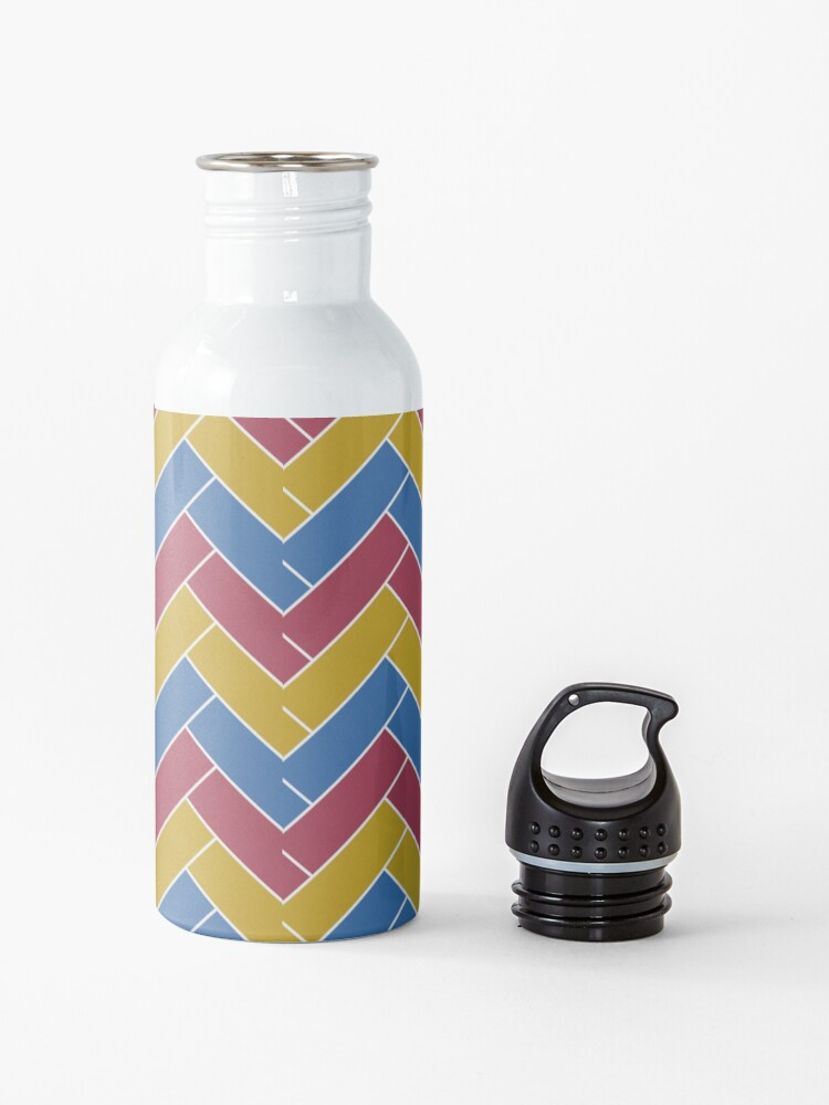 Alternate view of Geometric Pattern: Herringbone: Summer Water Bottle
