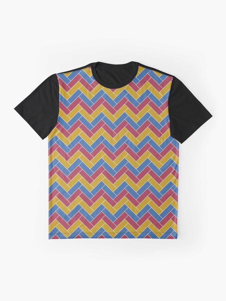 Alternate view of Geometric Pattern: Herringbone: Summer Graphic T-Shirt