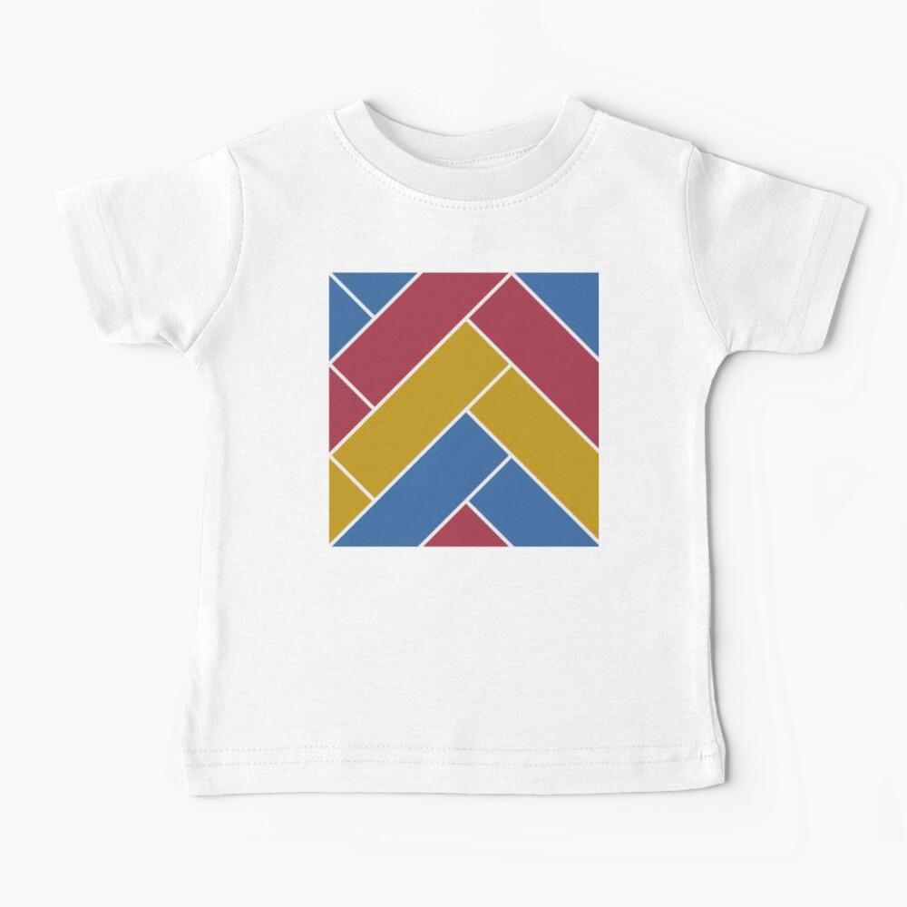 Geometric Pattern: Herringbone: Summer Baby T-Shirt