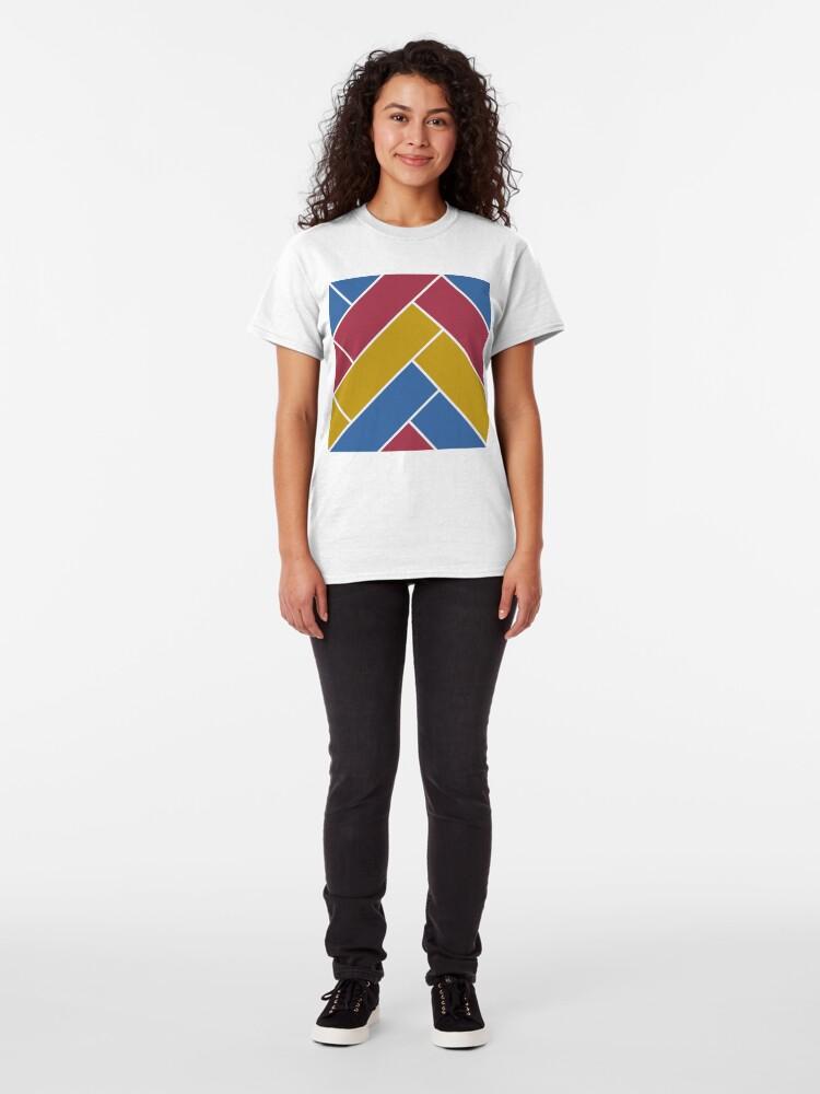 Alternate view of Geometric Pattern: Herringbone: Summer Classic T-Shirt