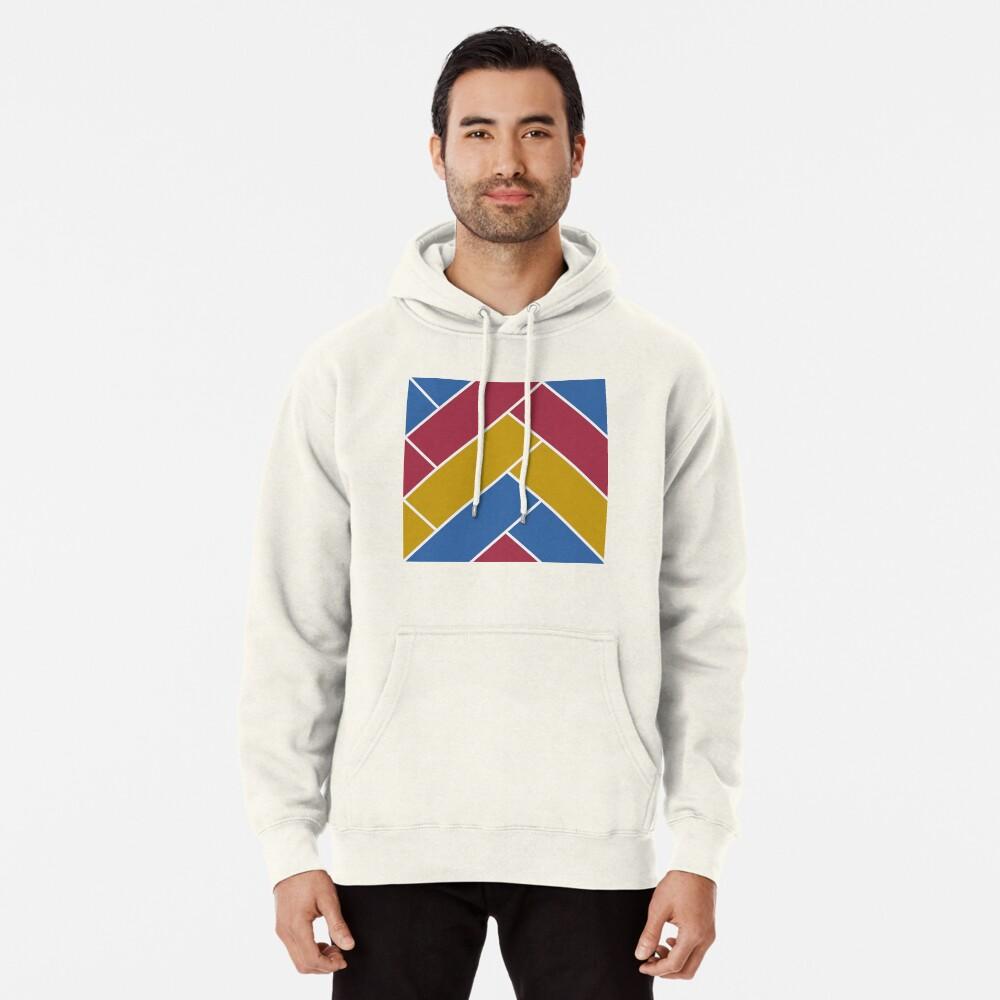 Geometric Pattern: Herringbone: Summer Pullover Hoodie