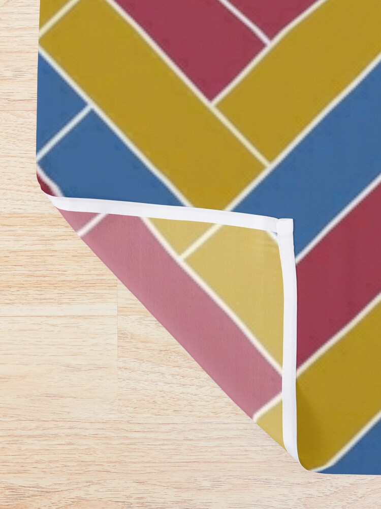 Alternate view of Geometric Pattern: Herringbone: Summer Shower Curtain