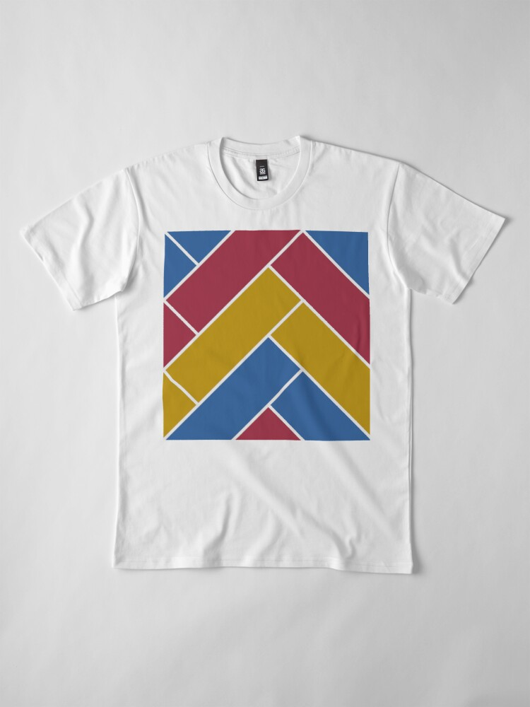 Alternate view of Geometric Pattern: Herringbone: Summer Premium T-Shirt