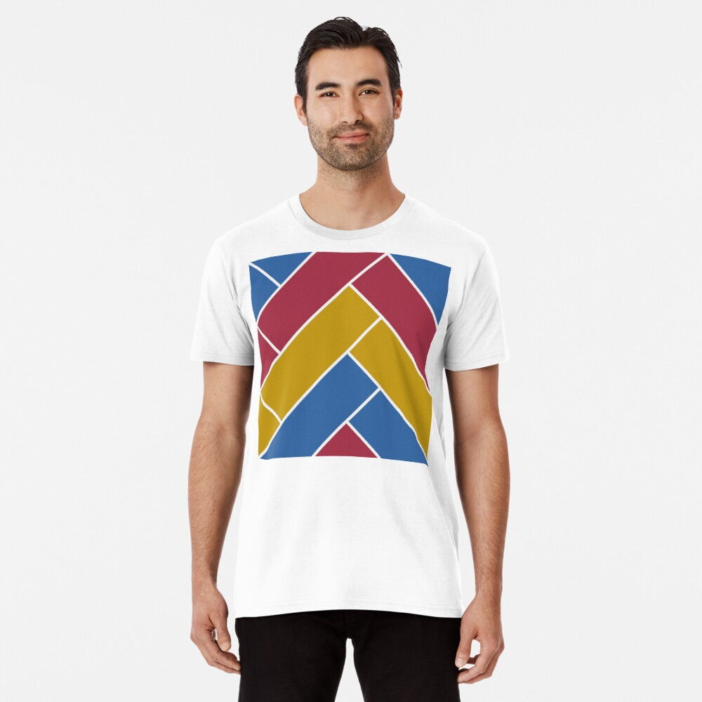 Geometric Pattern: Herringbone: Summer Premium T-Shirt