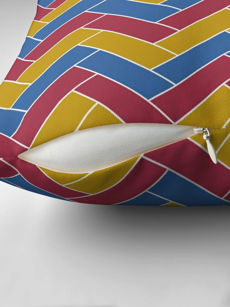 Alternate view of Geometric Pattern: Herringbone: Summer Throw Pillow