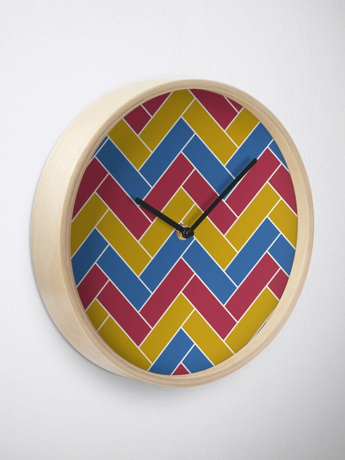 Alternate view of Geometric Pattern: Herringbone: Summer Clock