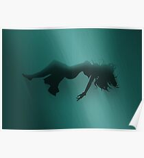 Aerith Sinking Prints Poster