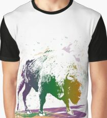 Bison in a colour storm Graphic T-Shirt