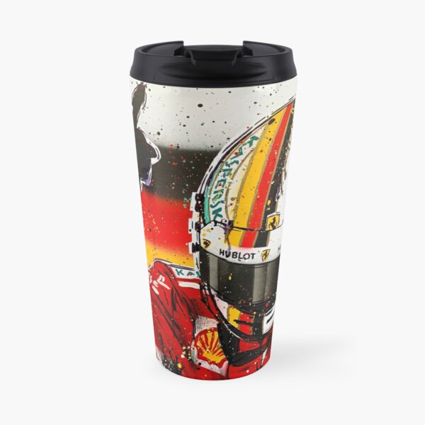 Sebastian Vettel graffiti painting by DRAutoArt Travel Mug