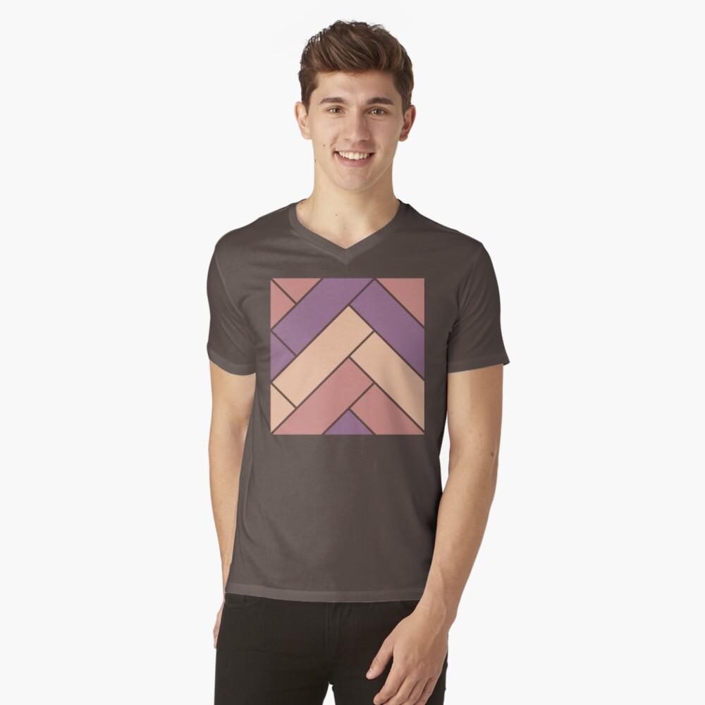 Geometric Pattern: Herringbone: Autumn V-Neck T-Shirt