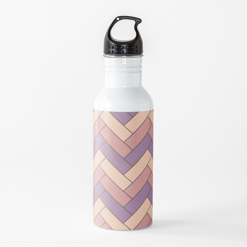 Geometric Pattern: Herringbone: Autumn Water Bottle