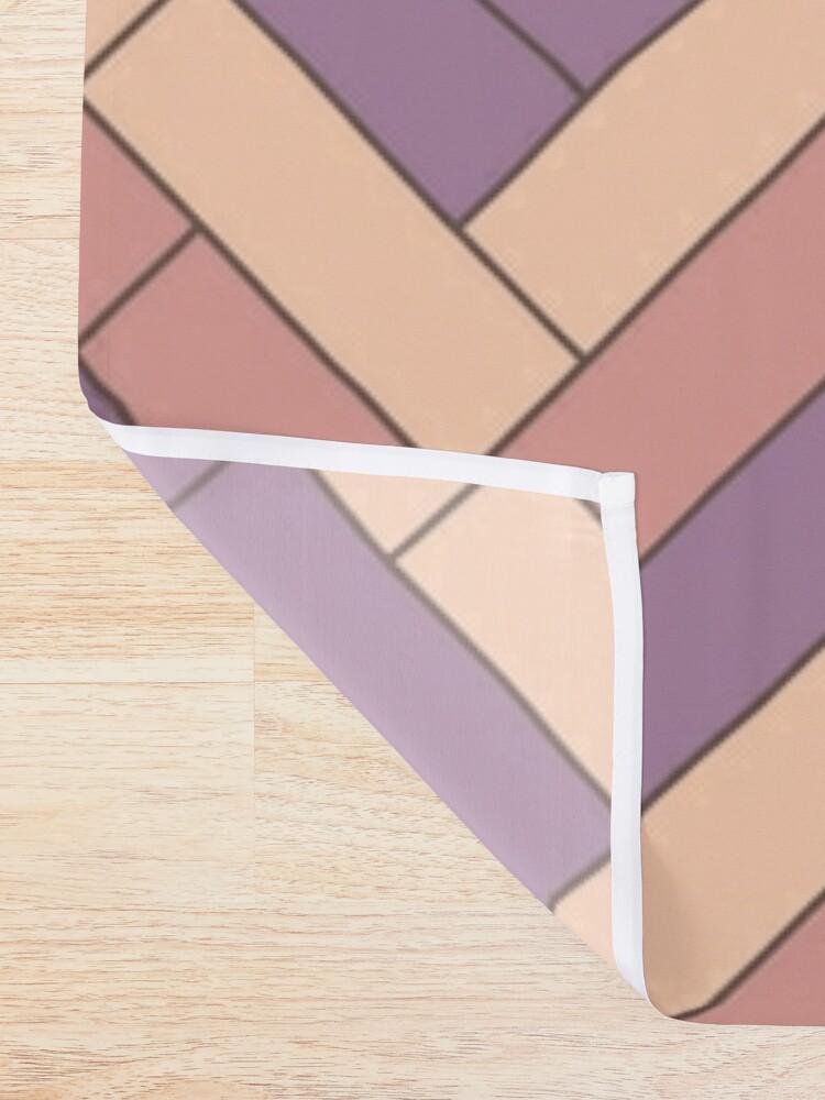 Alternate view of Geometric Pattern: Herringbone: Autumn Shower Curtain
