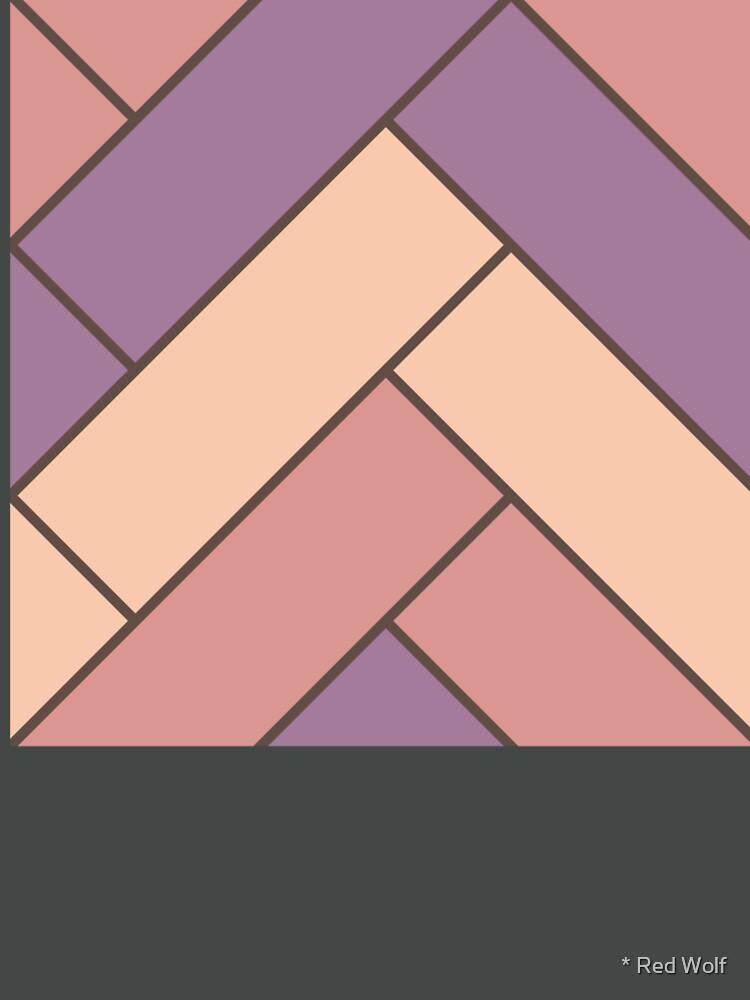Geometric Pattern: Herringbone: Autumn by redwolfoz