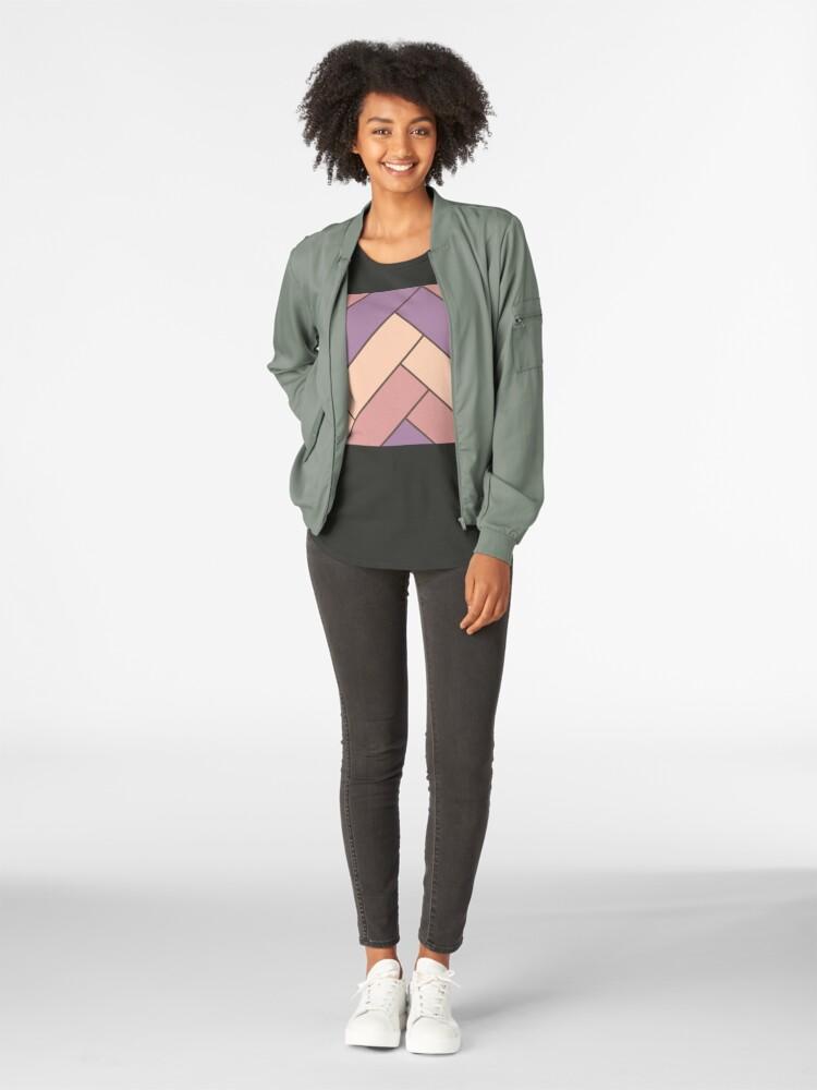 Alternate view of Geometric Pattern: Herringbone: Autumn Premium Scoop T-Shirt