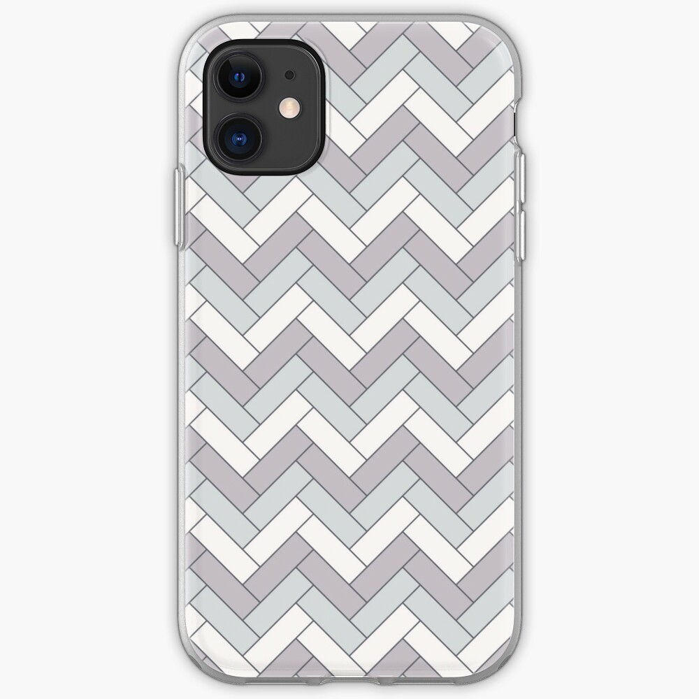 Geometric Pattern: Herringbone: Winter iPhone Case & Cover