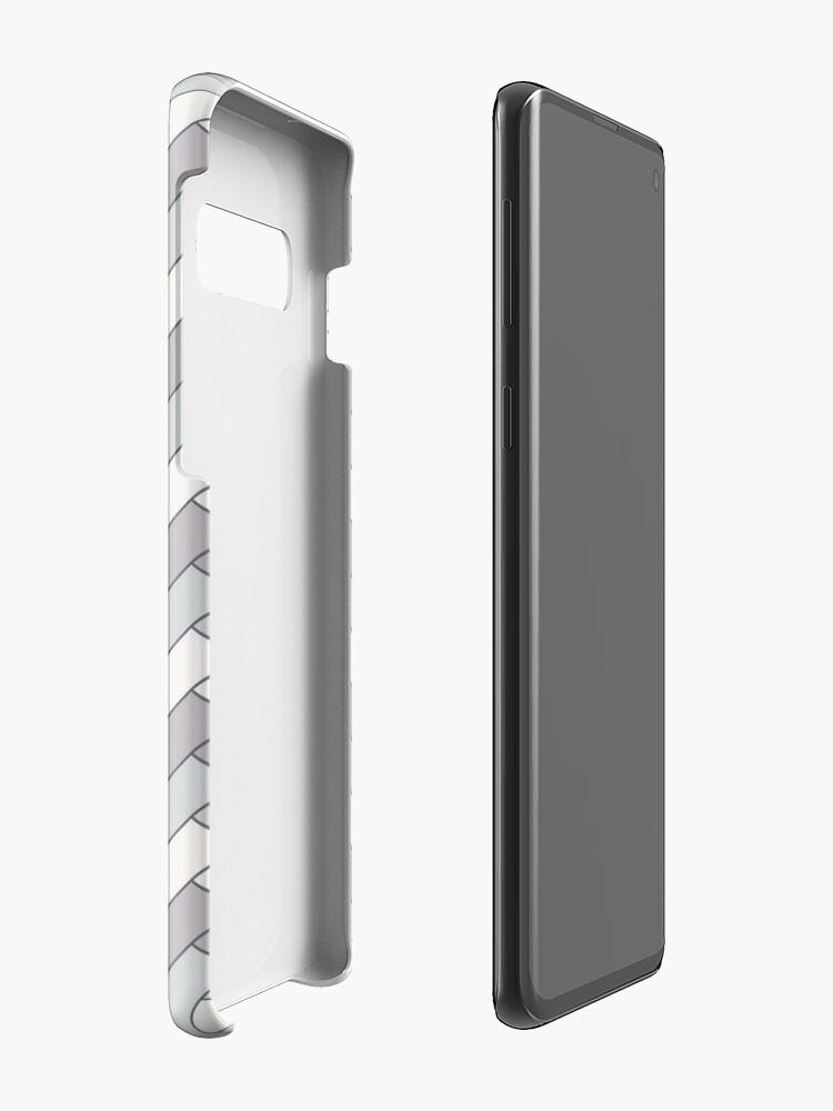 Alternate view of Geometric Pattern: Herringbone: Winter Case & Skin for Samsung Galaxy