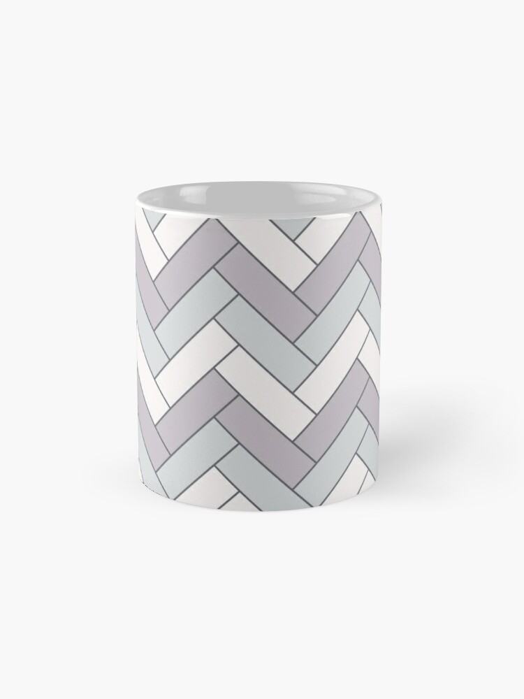 Alternate view of Geometric Pattern: Herringbone: Winter Mug
