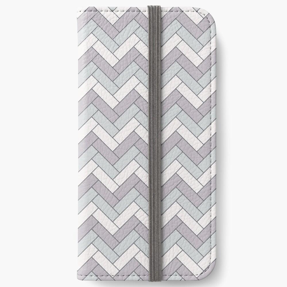 Geometric Pattern: Herringbone: Winter iPhone Wallet