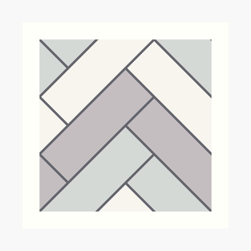 Geometric Pattern: Herringbone: Winter Art Print