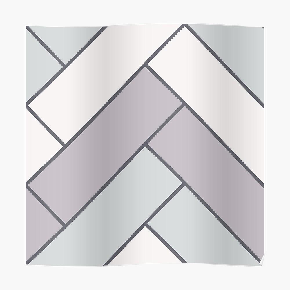 Geometric Pattern: Herringbone: Winter Poster