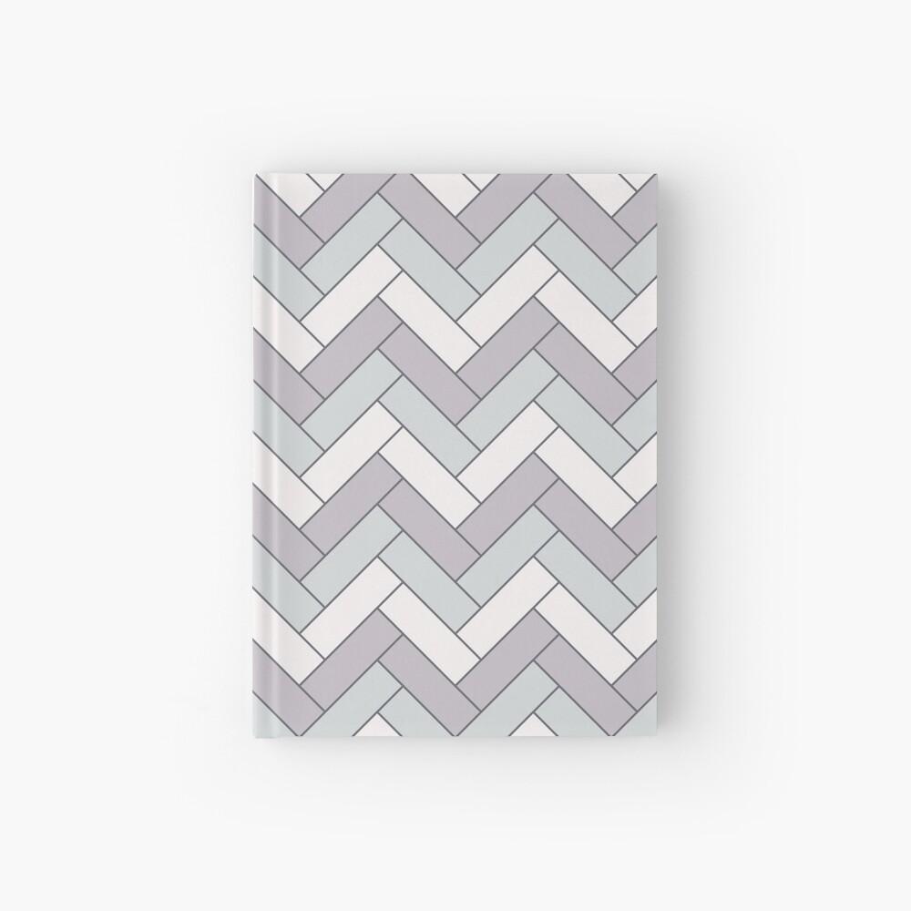 Geometric Pattern: Herringbone: Winter Hardcover Journal