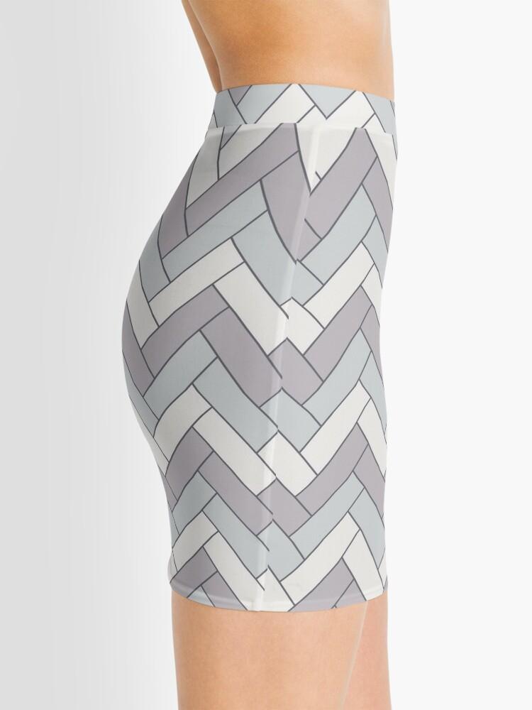 Alternate view of Geometric Pattern: Herringbone: Winter Mini Skirt