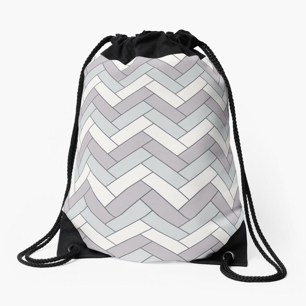 Geometric Pattern: Herringbone: Winter Drawstring Bag