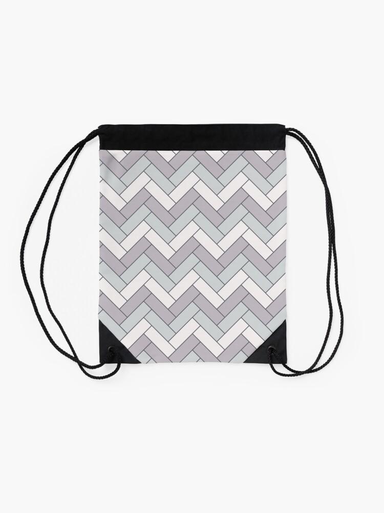 Alternate view of Geometric Pattern: Herringbone: Winter Drawstring Bag