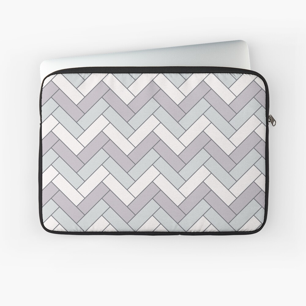 Geometric Pattern: Herringbone: Winter Laptop Sleeve
