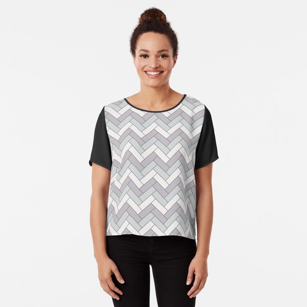 Geometric Pattern: Herringbone: Winter Chiffon Top