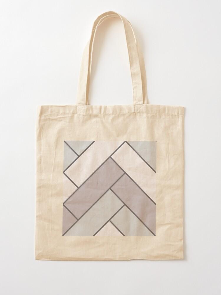 Alternate view of Geometric Pattern: Herringbone: Winter Tote Bag