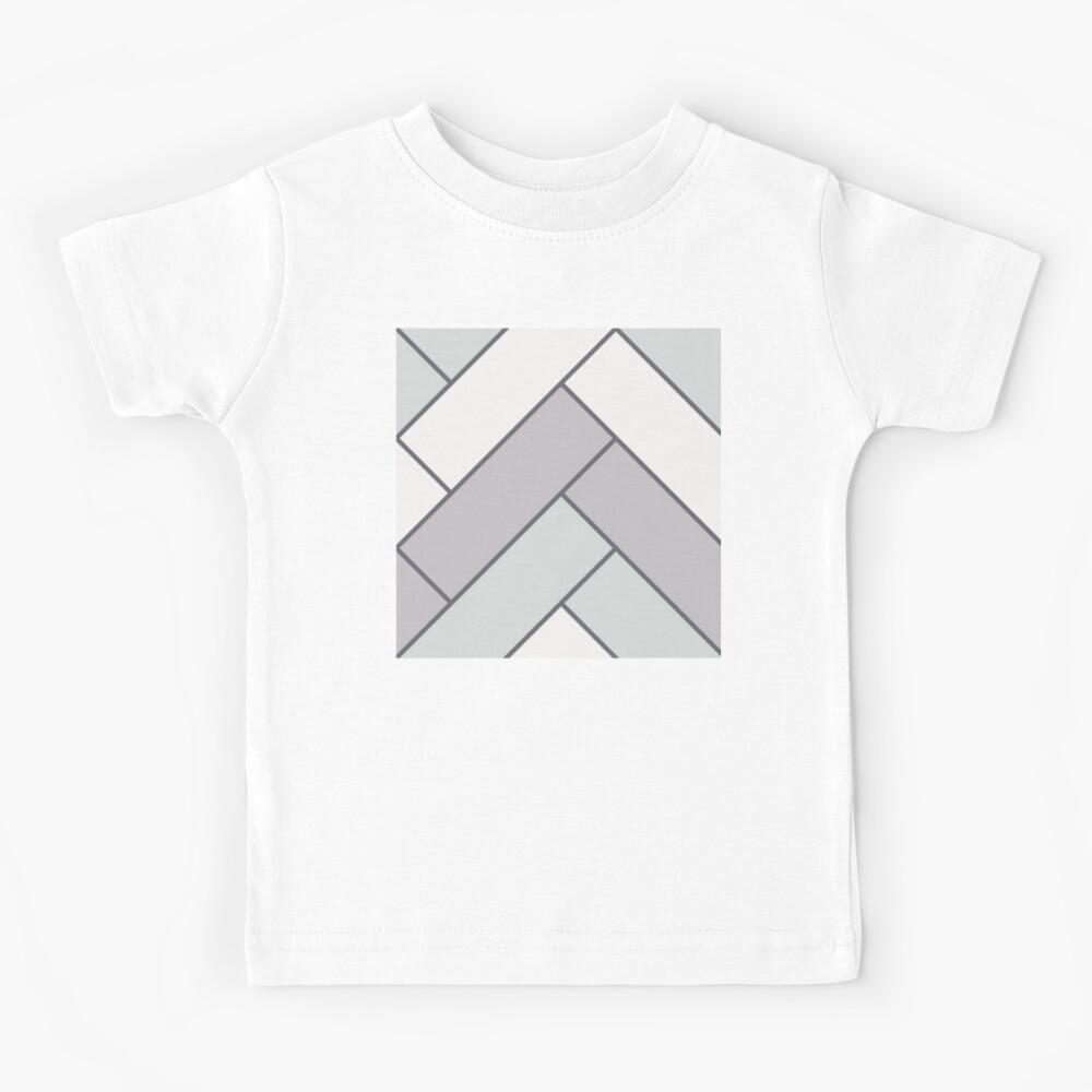 Geometric Pattern: Herringbone: Winter Kids T-Shirt