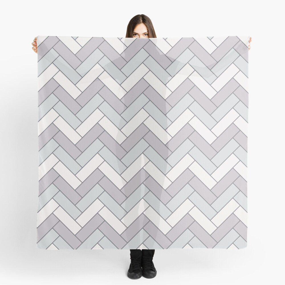 Geometric Pattern: Herringbone: Winter Scarf